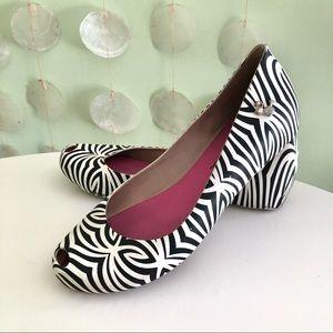 Melissa x Barbie Zebra Stripe Jelly Peep Toe Flats